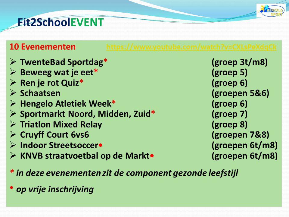 doelstelling  kinderen kennis laten maken met verschillende sportaccommodaties in en rond Hengelo  kinderen enthousiast maken om lid te worden van e