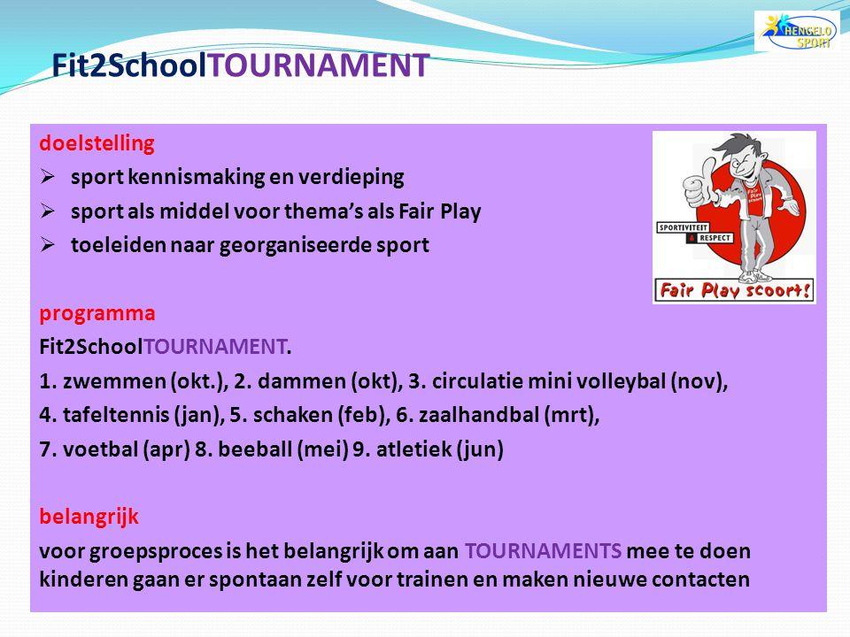 wat is Fit2SchoolTOURNAMENT?  de 9 Schoolsporttoernooien om het KAMPIOENSCHAP van de Gemeente Hengelo organisatie Fit2SchoolTOURNAMENT  de toernooie