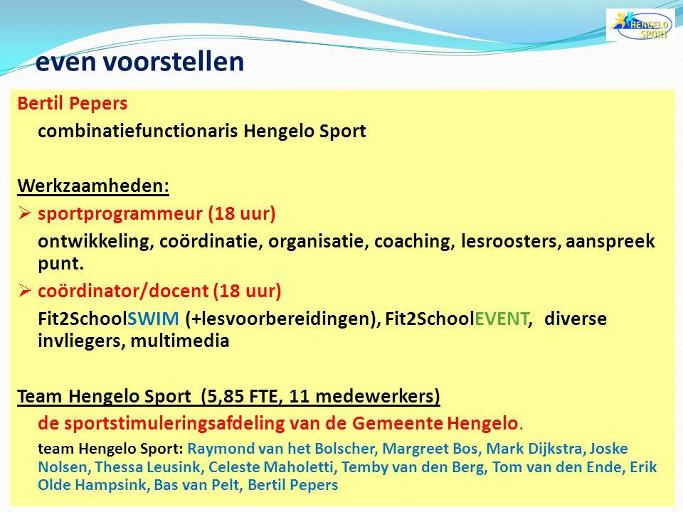 """Kent u het """"BasisAanbodSport"""" van Hengelo Sport? Is er in uw gemeente een vast sport aanbod tijdens school / na-schools met vaste jaarplanning Denkt u"""