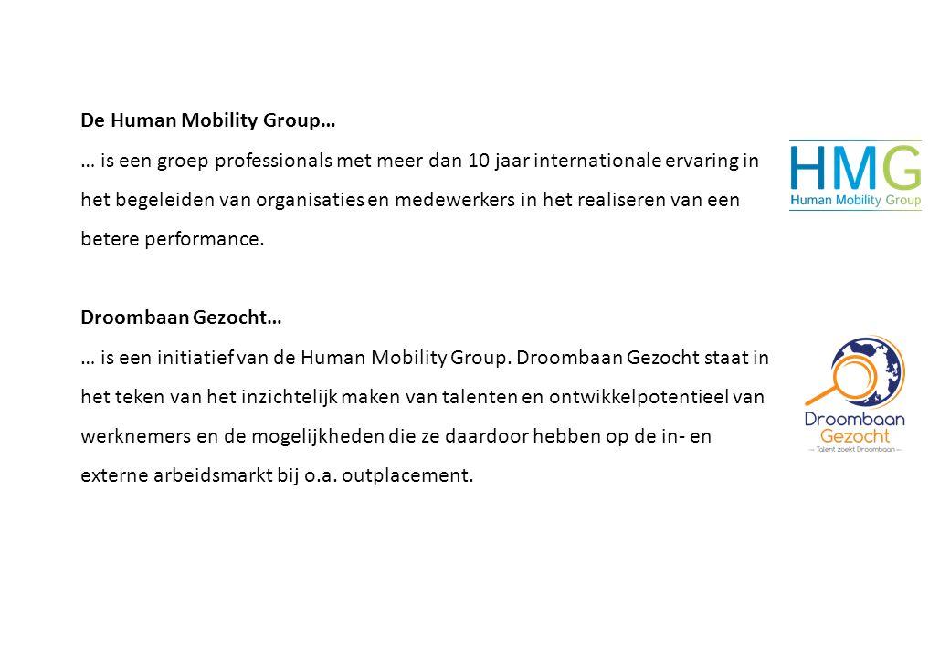 De Human Mobility Group… … is een groep professionals met meer dan 10 jaar internationale ervaring in het begeleiden van organisaties en medewerkers i