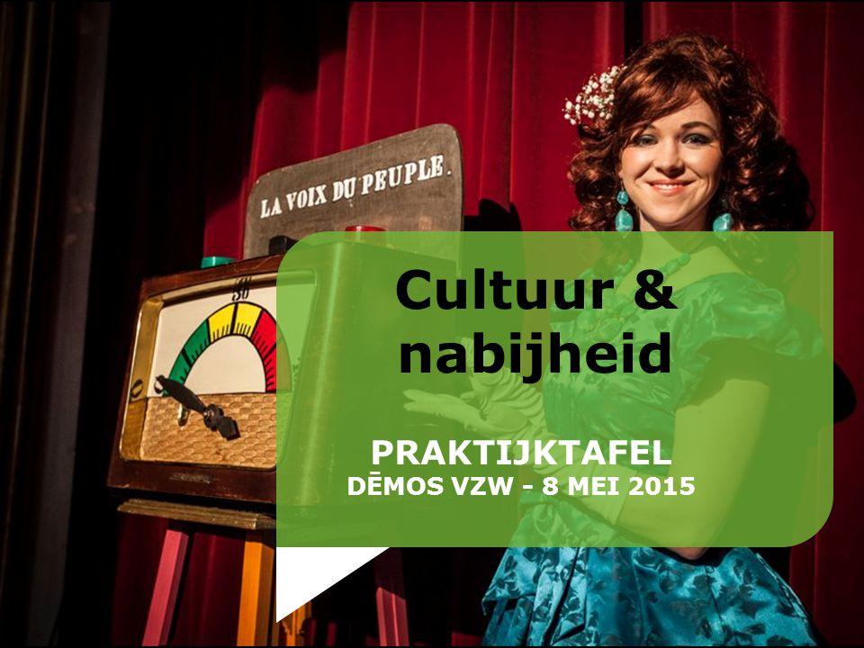 Cultuur & nabijheid PRAKTIJKTAFEL DĒMOS VZW - 8 MEI 2015