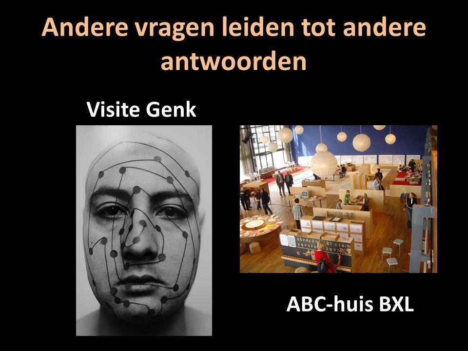 Andere vragen leiden tot andere antwoorden Visite Genk ABC-huis BXL