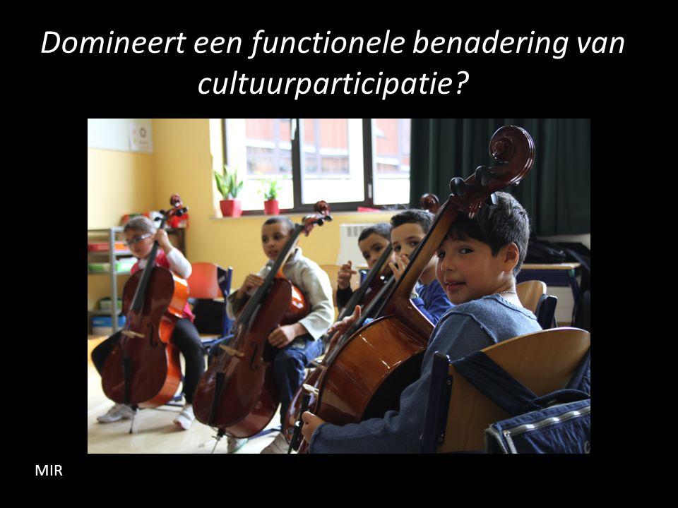 Domineert een functionele benadering van cultuurparticipatie MIR