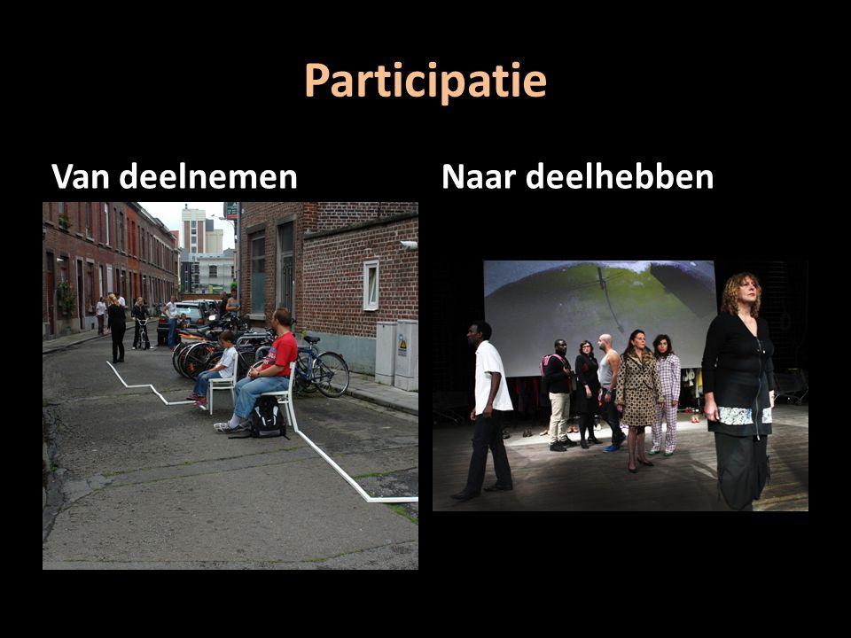 Participatie Van deelnemenNaar deelhebben