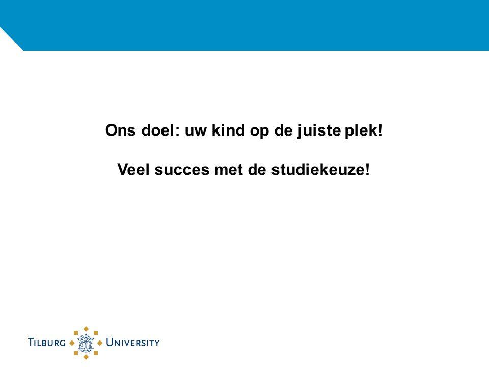 Ons doel: uw kind op de juiste plek! Veel succes met de studiekeuze!