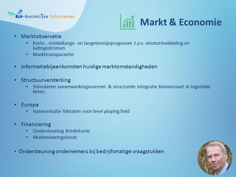 Markt & Economie Marktobservatie Korte-, middellange- en langetermijnprognoses t.a.v.