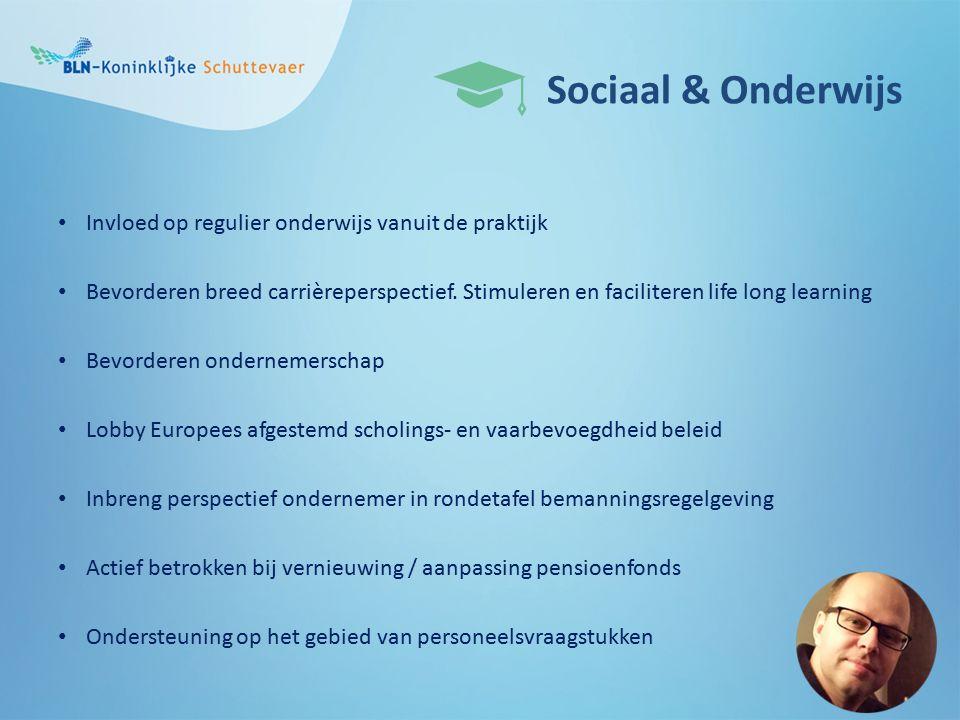 Sociaal & Onderwijs Invloed op regulier onderwijs vanuit de praktijk Bevorderen breed carrièreperspectief.