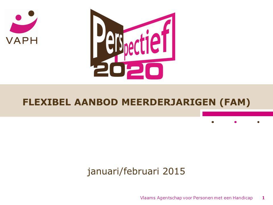 Vlaams Agentschap voor Personen met een Handicap1 FLEXIBEL AANBOD MEERDERJARIGEN (FAM) januari/februari 2015