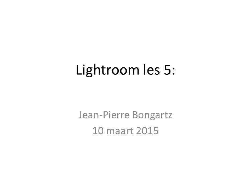 Lightroom les 5: Jean-Pierre Bongartz 10 maart 2015