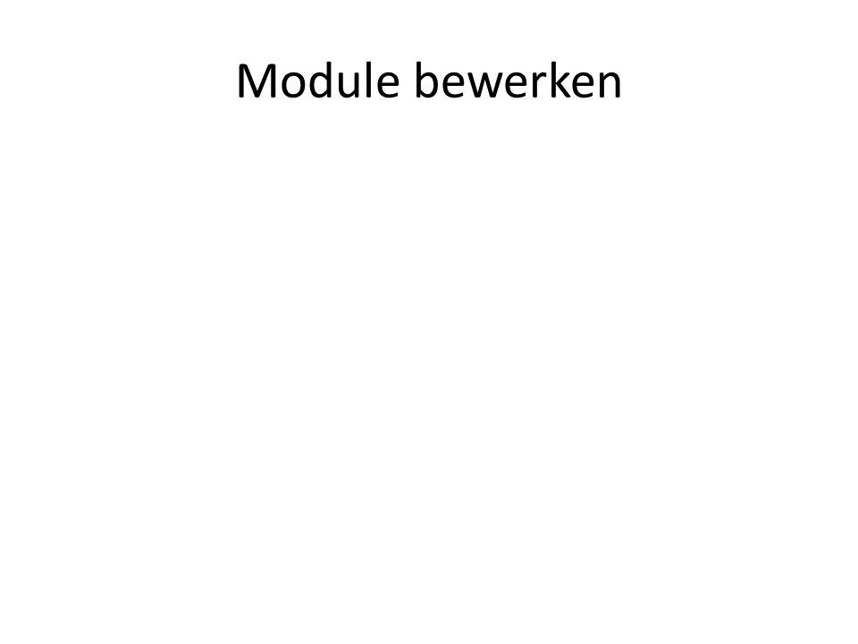 Module bewerken