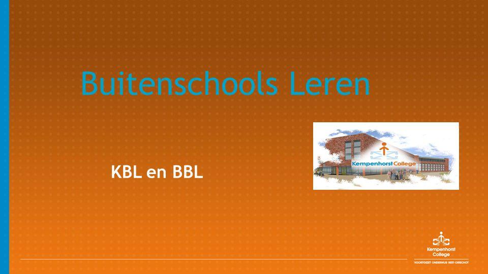 Buitenschools Leren KBL en BBL