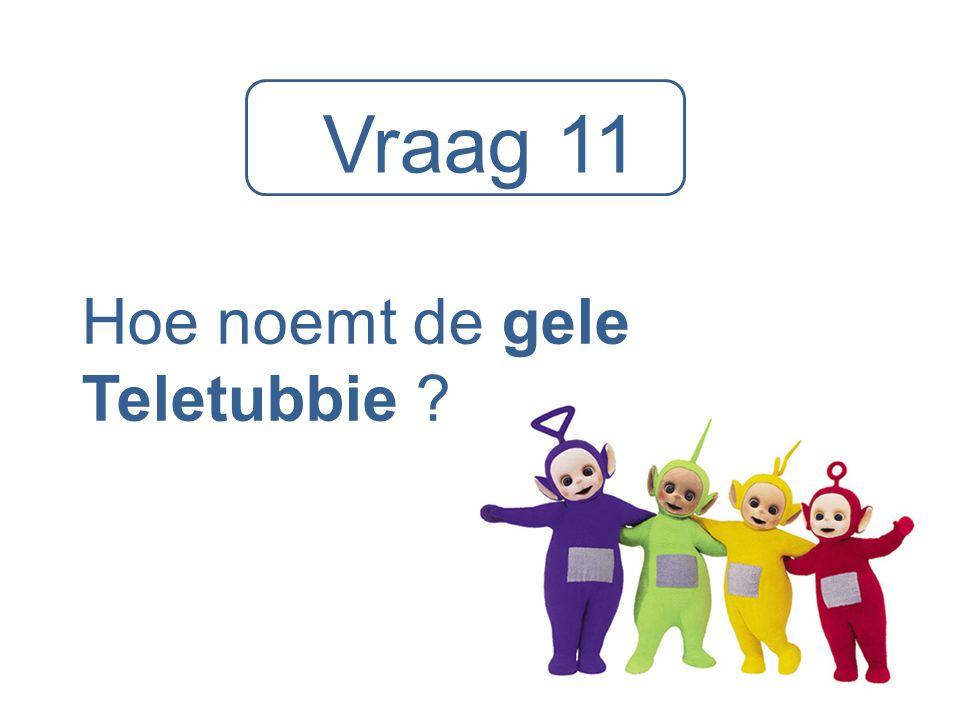 Vraag 11 Hoe noemt de gele Teletubbie ?