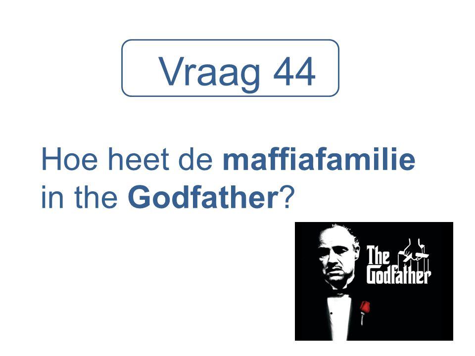 Vraag 44 Hoe heet de maffiafamilie in the Godfather?
