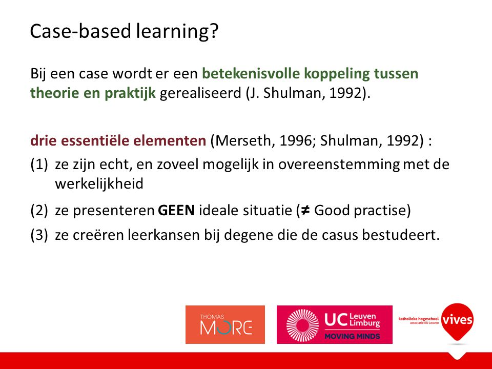 Case-based learning.