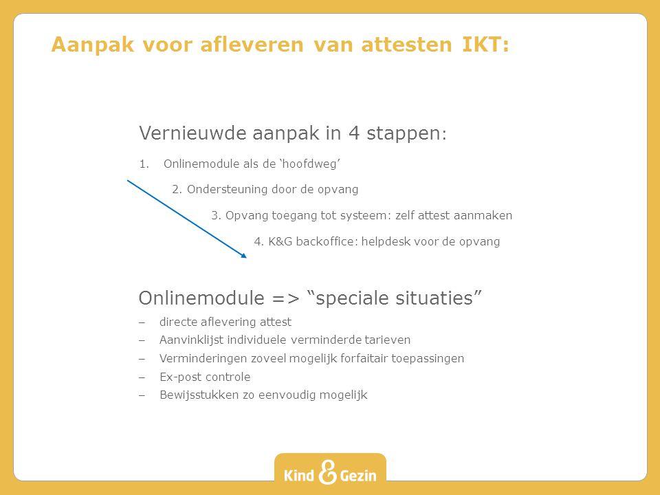 Vernieuwde aanpak in 4 stappen : 1.Onlinemodule als de 'hoofdweg' 2.
