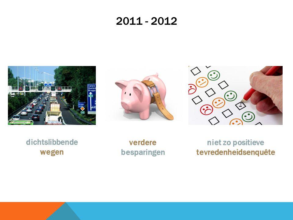 2011 - 2012 dichtslibbende wegen verdere besparingen niet zo positieve tevredenheidsenquête
