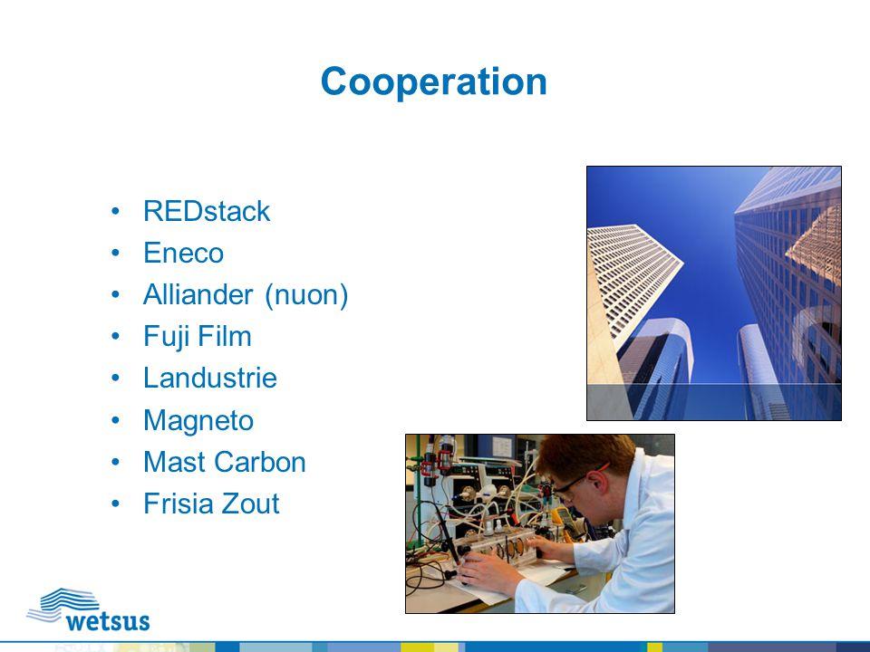 Cooperation REDstack Eneco Alliander (nuon) Fuji Film Landustrie Magneto Mast Carbon Frisia Zout