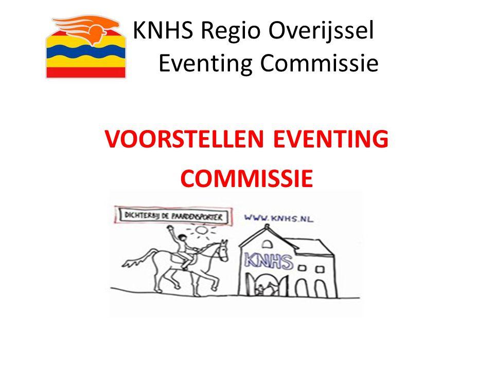 KNHS Regio Overijssel Eventing Commissie INDELING VAN DE AVOND: 19.15 UUR - 19.55 UUR PRESENTATIE DEEL 1 20.00 UUR - 20.45 UUR PRAKTIJK BUITEN 20.50 UUR - 21.20 UUR PRESENTATIE DEEL 2 CA.
