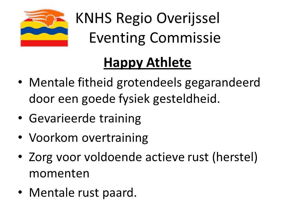 KNHS Regio Overijssel Eventing Commissie Happy Athlete Mentale fitheid grotendeels gegarandeerd door een goede fysiek gesteldheid. Gevarieerde trainin