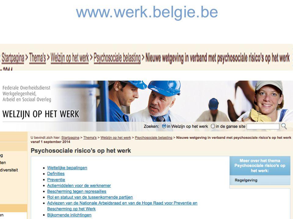 © IDEWE. Confidential. www.werk.belgie.be