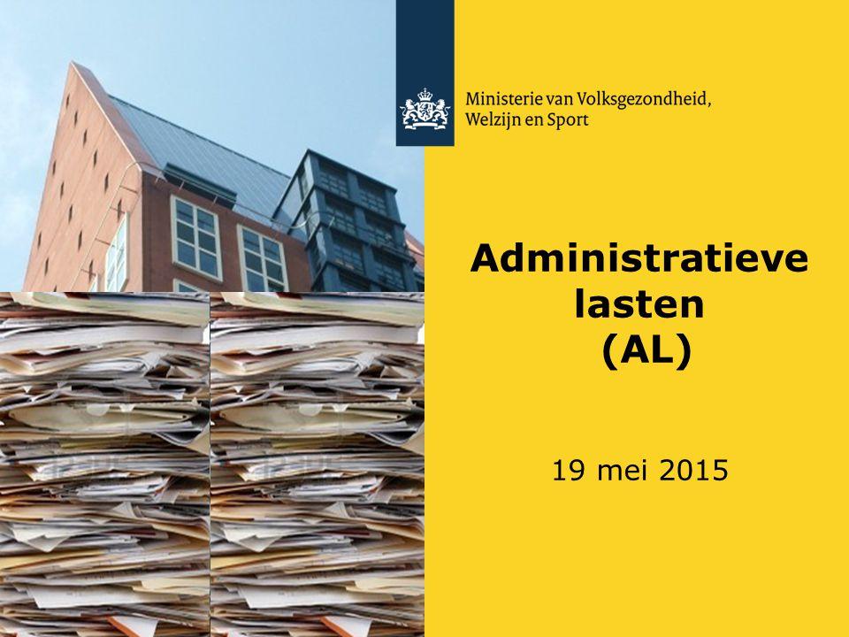 Administratieve lasten (AL) 19 mei 2015