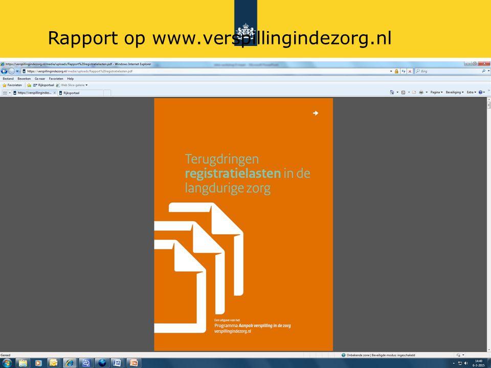 9 Rapport op www.verspillingindezorg.nl