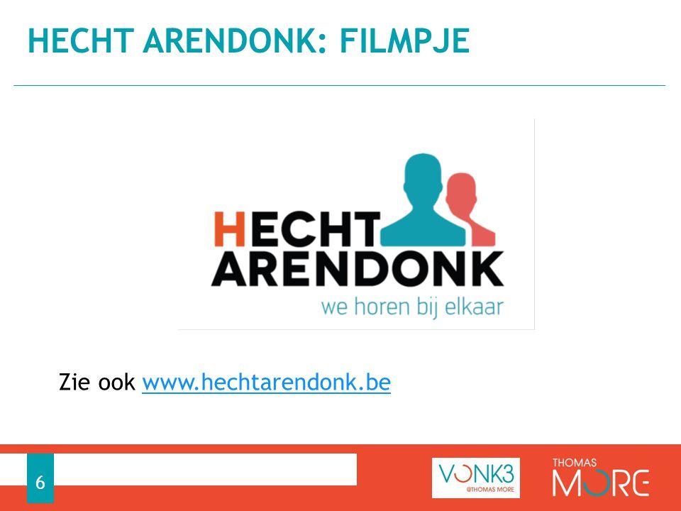 Zie ook www.hechtarendonk.bewww.hechtarendonk.be HECHT ARENDONK: FILMPJE 6