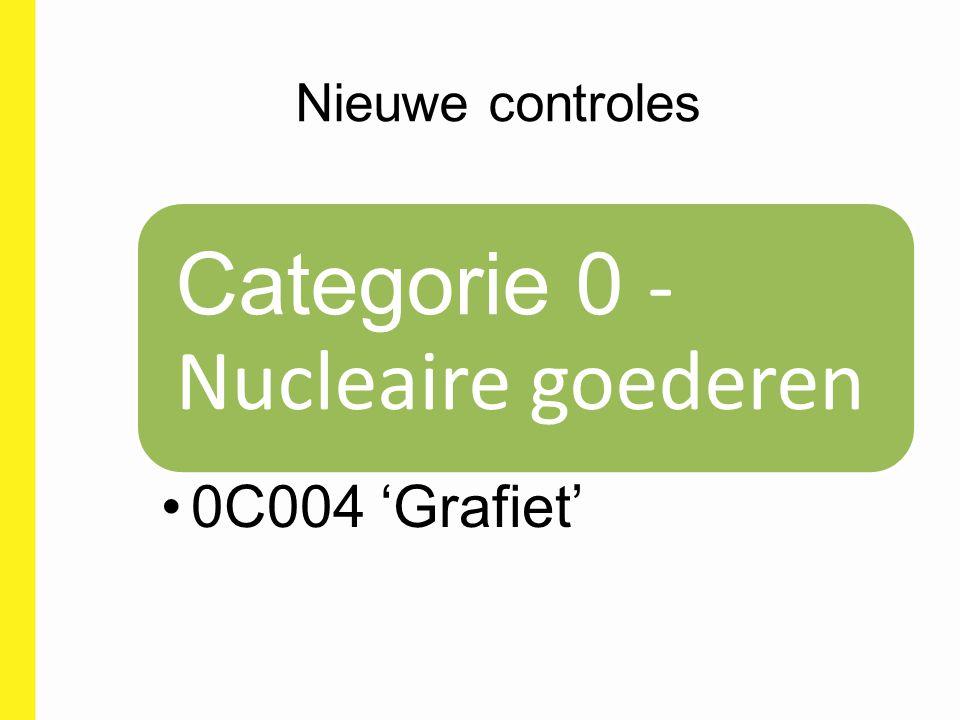 Nieuwe controles Categorie 0 - Nucleaire goederen 0C004 'Grafiet'
