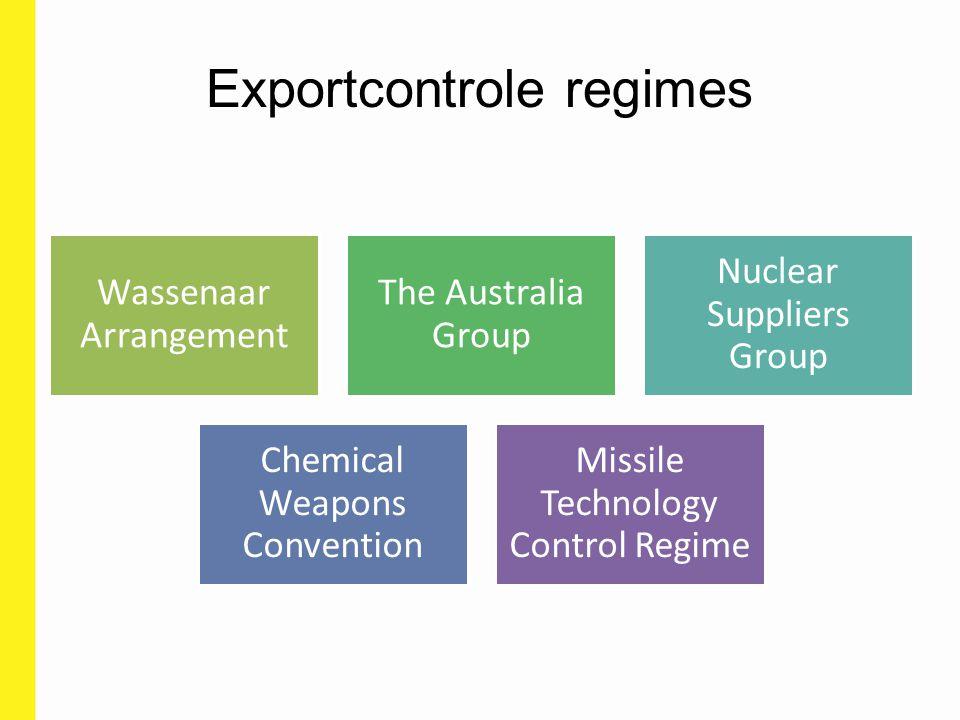 Belang van exportcontrole regimes Europese dual-use regelgeving volgt de goedgekeurde wijzingen van de exportcontrole regimes (met vertraging) Belangrijk om na te gaan wat er voor uw uitvoer zal veranderen Belang voor rapporteringsplicht België (sensitive & very sensitive items) Pool of experts op Europees niveau