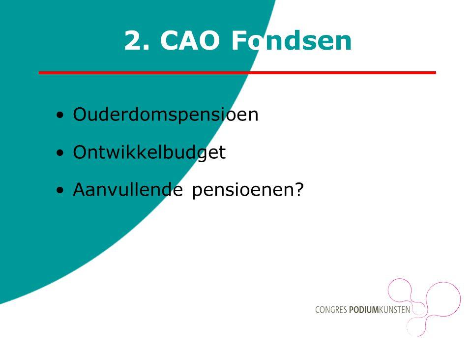 2. CAO Fondsen Ouderdomspensioen Ontwikkelbudget Aanvullende pensioenen?