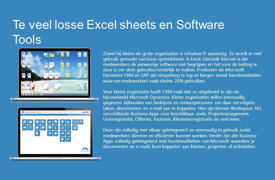 Zowel bij kleine als grote organisaties is schaduw IT aanwezig. Zo wordt er veel gebruik gemaakt van losse spreadsheets in Excel. Oorzaak hiervan is d