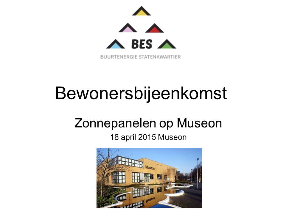 Bewonersbijeenkomst Zonnepanelen op Museon 18 april 2015 Museon