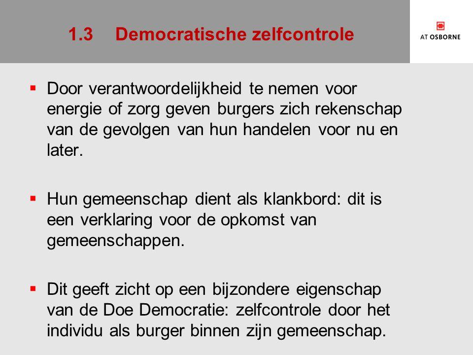 2De Burgeronderneming 1.De business case 1.Energie 2.Zorg 2.De burgeronderneming 3.Meervoudige waardencreatie 4.Meervoudige financiering
