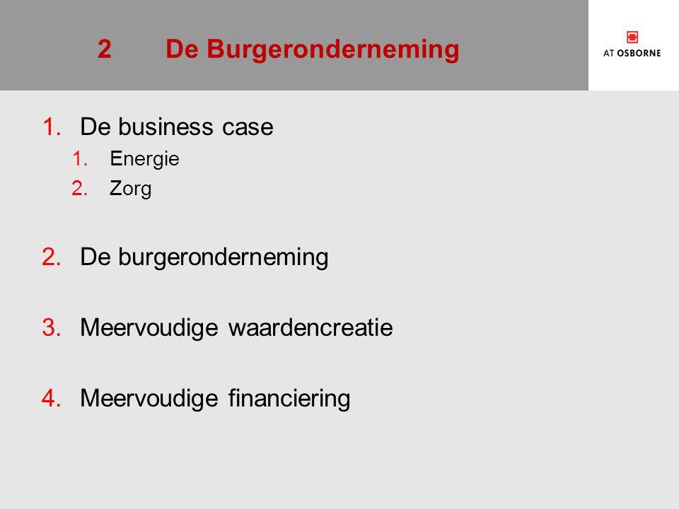 2.1.1Business case, energie  Burgers collectiviseren de vraag naar producten op de energie(transitie)markt.