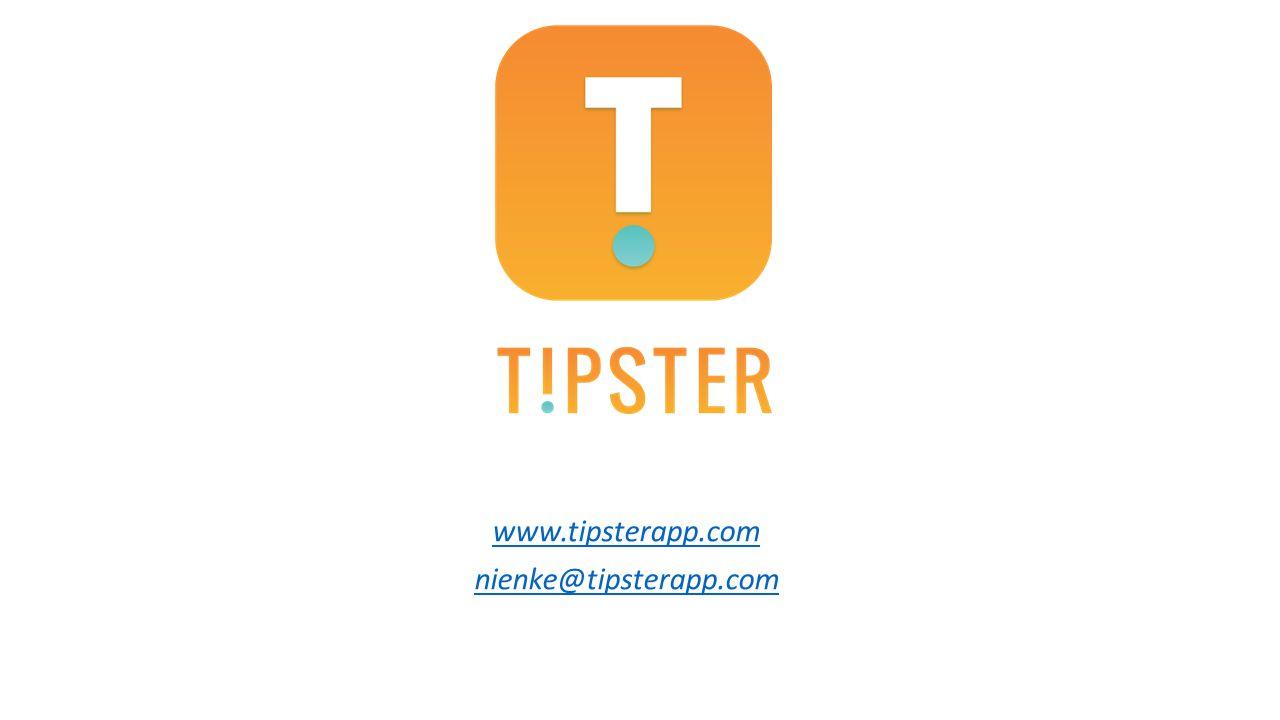 www.tipsterapp.com nienke@tipsterapp.com