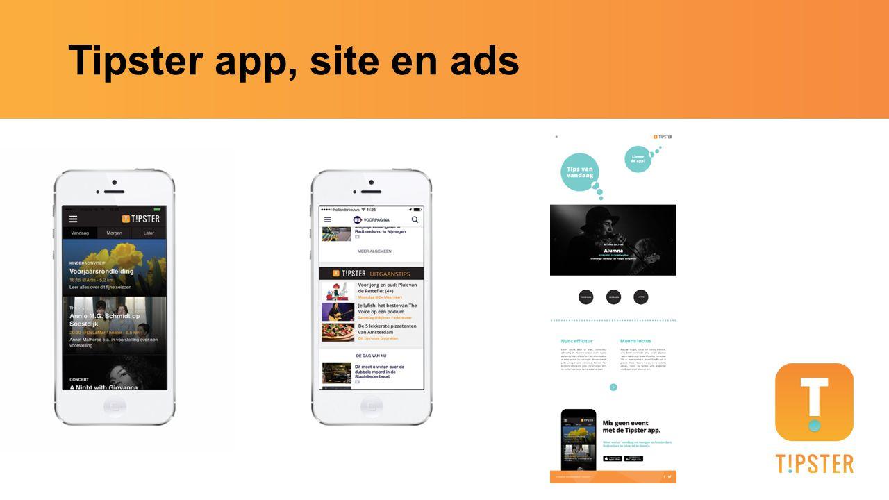 Tipster app, site en ads