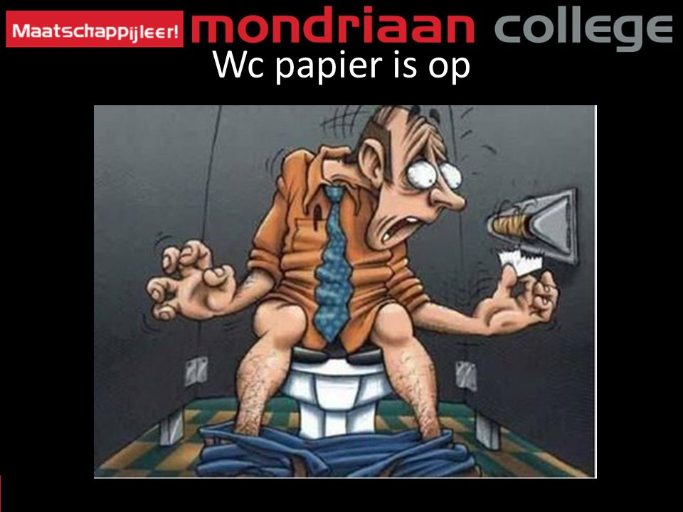 Wc papier is op