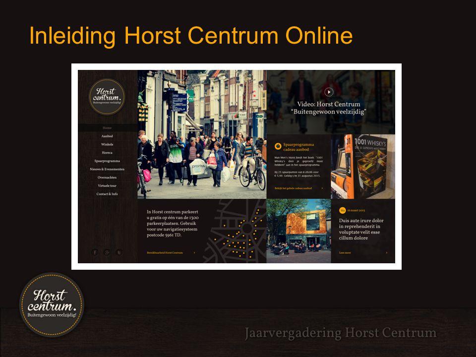 Uitleg website: Horst Centrum Tim Cosson