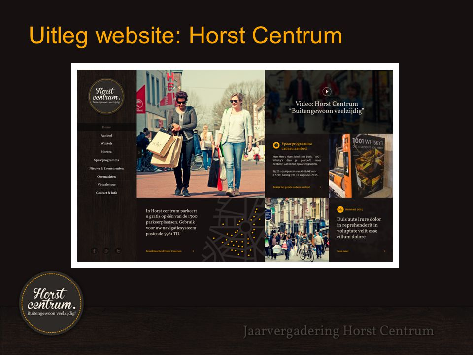 Uitleg website: Horst Centrum