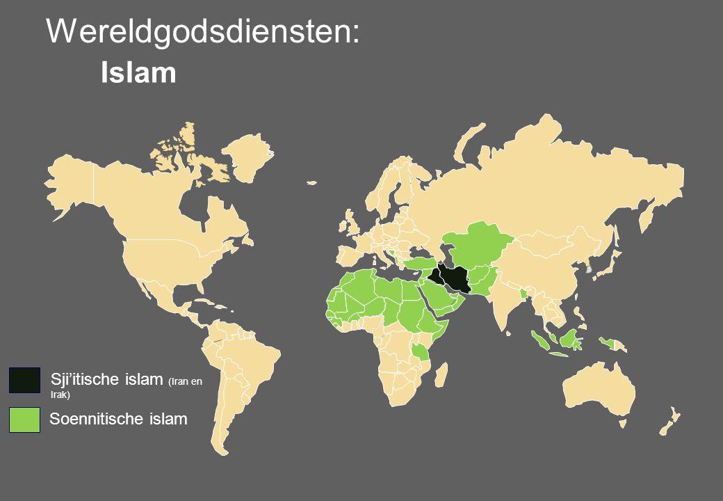 Wereldgodsdiensten: Islam Sji'itische islam (Iran en Irak) Soennitische islam