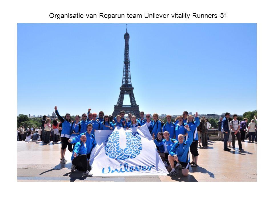 Organisatie van Roparun team Unilever vitality Runners 51