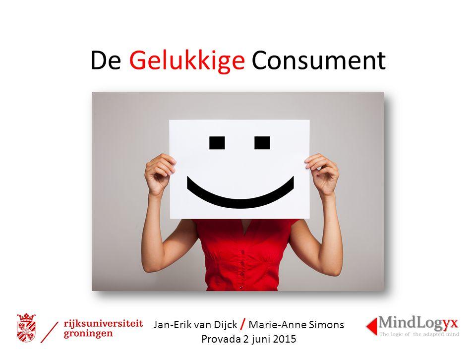 De Gelukkige Consument Jan-Erik van Dijck / Marie-Anne Simons Provada 2 juni 2015