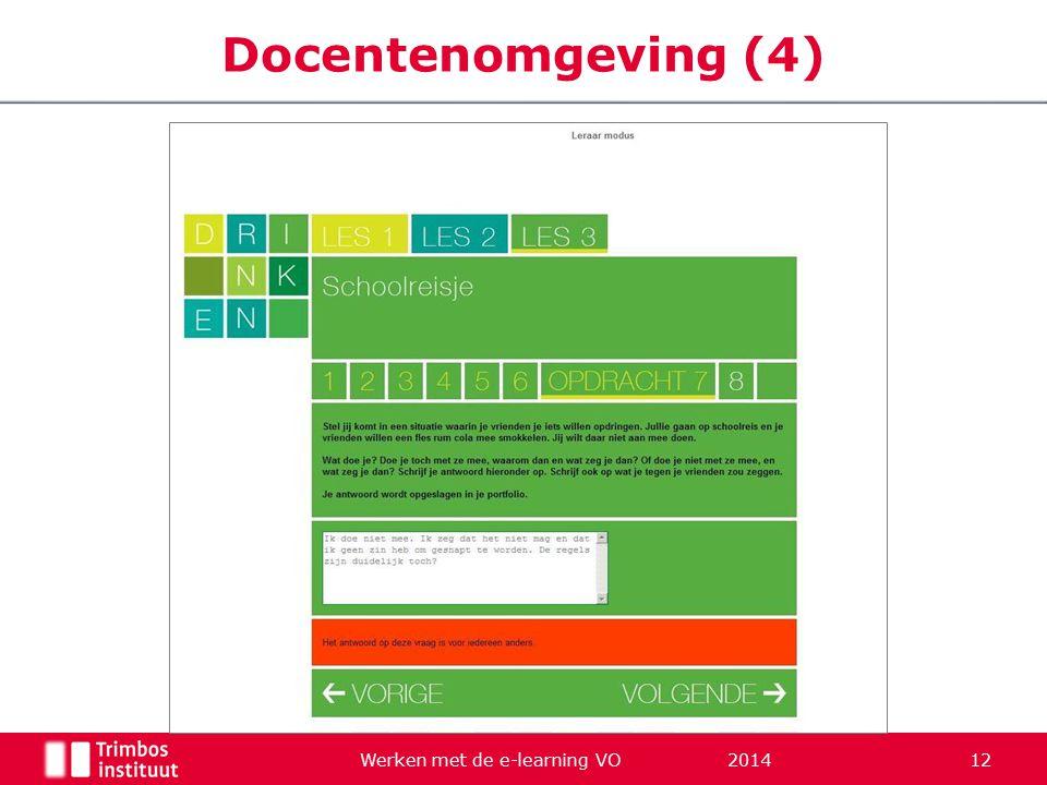 Werken met de e-learning VO 2014 12 Docentenomgeving (4)