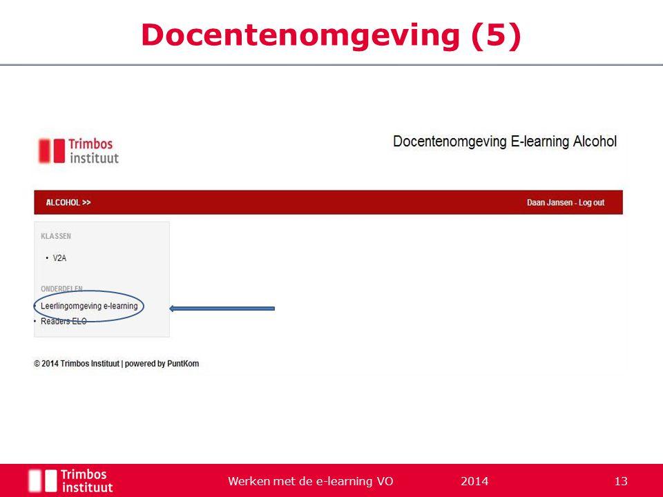 Werken met de e-learning VO 2014 13 Docentenomgeving (5)