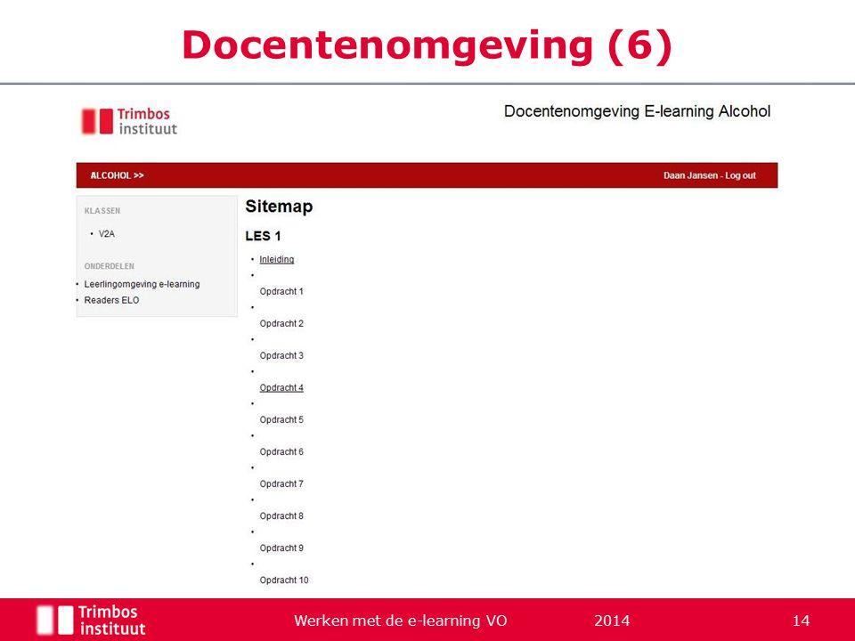 Werken met de e-learning VO 2014 14 Docentenomgeving (6)