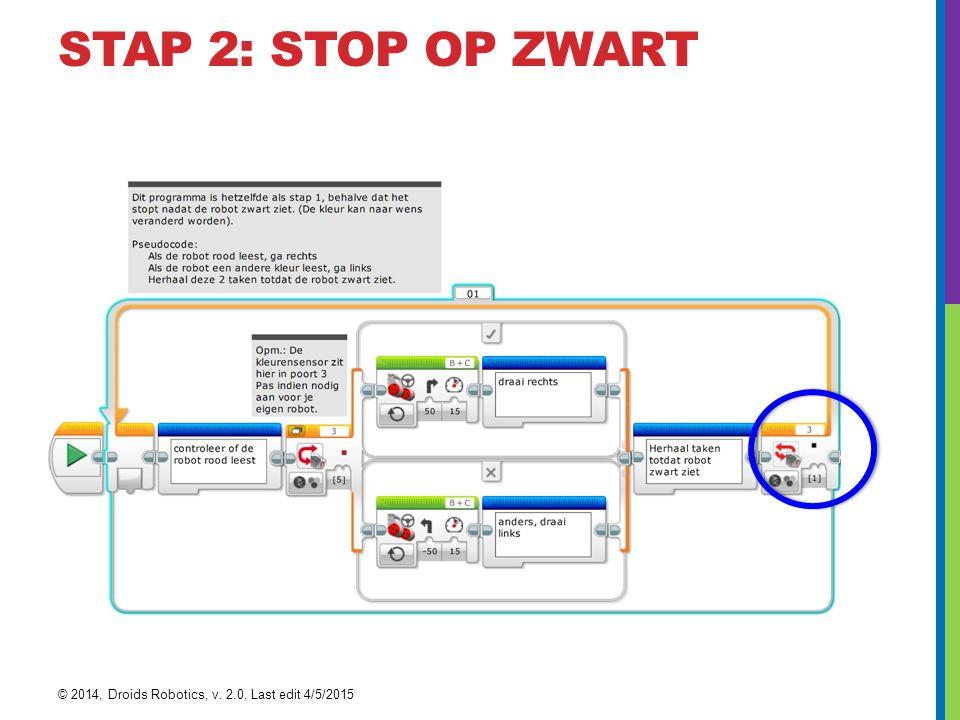 STAP 2: STOP OP ZWART © 2014, Droids Robotics, v. 2.0, Last edit 4/5/2015