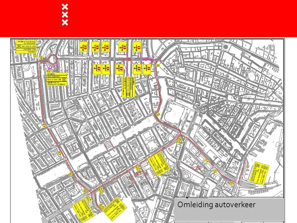 BLVC : bereikbaarheid (laden en lossen )  Vanaf 7 september kan L&L verkeer niet via de Vijzelstraat naar de Reguliersbreestraat, maar wel naar de Reguliersdwarsstraat  L&L op het trottoir van de Vijzelstraat tussen Reguliersdwarsstraat en Munt is niet mogelijk in fase 1, daarna gedeeltelijk mogelijk  Vanaf 5 okt.