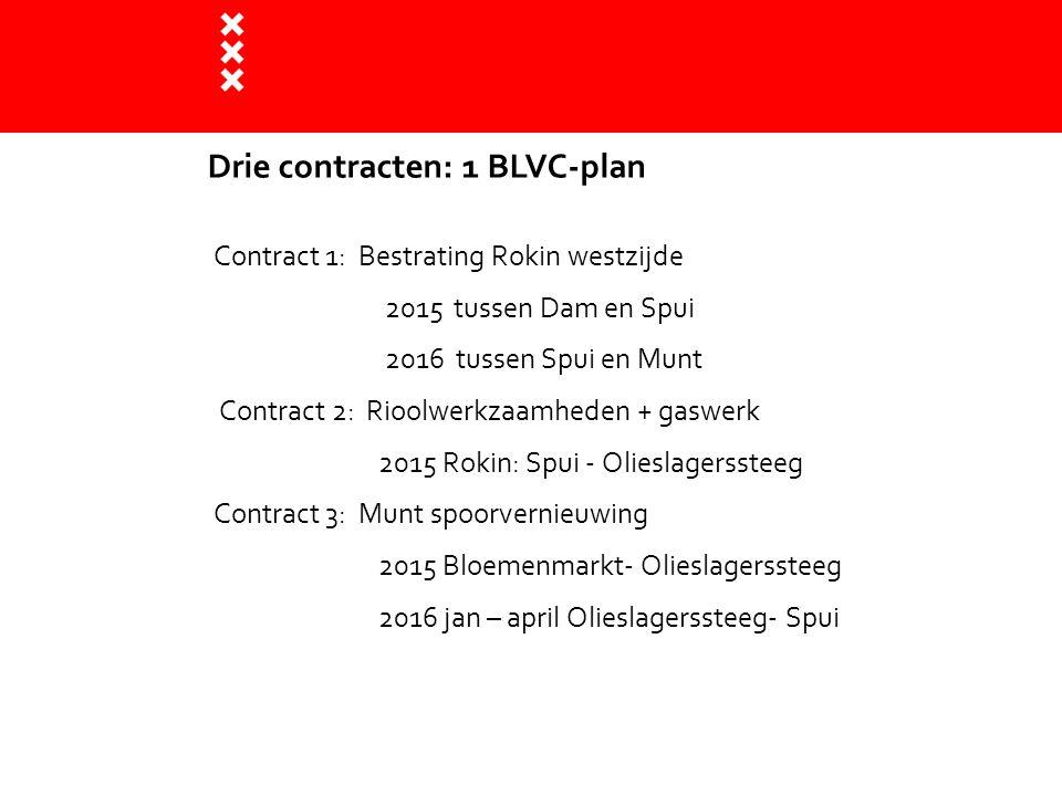 Contract 1: Bestrating Rokin westzijde 2015 tussen Dam en Spui 2016 tussen Spui en Munt Contract 2: Rioolwerkzaamheden + gaswerk 2015 Rokin: Spui - Ol