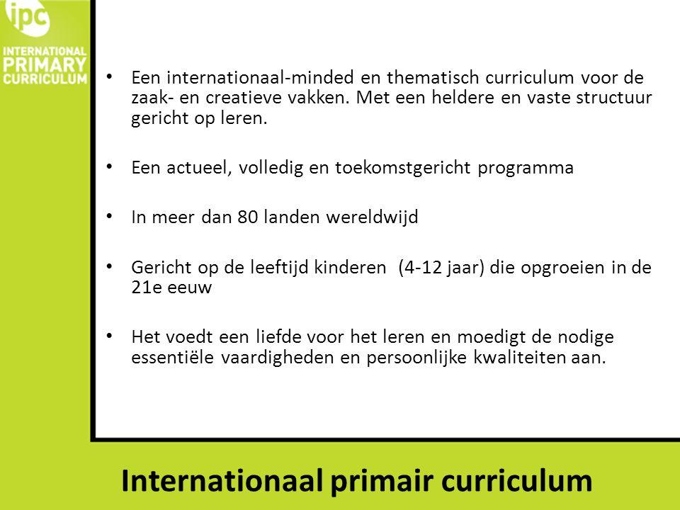 Een internationaal-minded en thematisch curriculum voor de zaak- en creatieve vakken. Met een heldere en vaste structuur gericht op leren. Een actueel