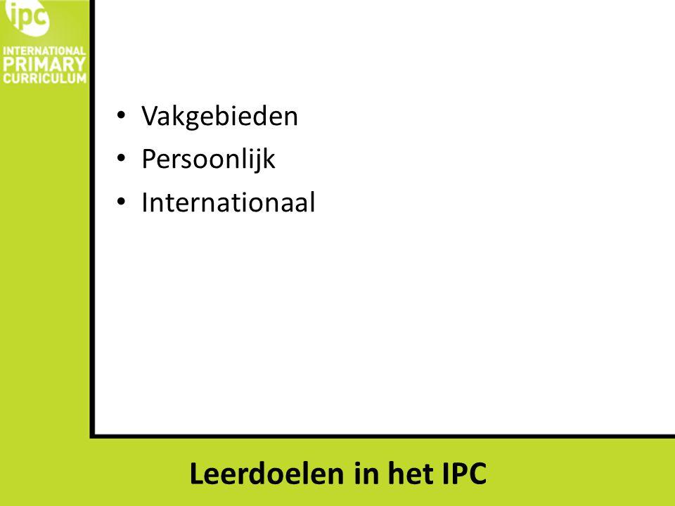 IPC en de kerndoelen Het onderwijs richt zich op de emotionele en verstandelijke ontwikkeling, op de ontwikkeling van de creativiteit en het verwerven van sociale, culturele en lichamelijke vaardigheden.